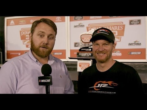 1-on-1 with Dale Jr. in Daytona Victory Lane
