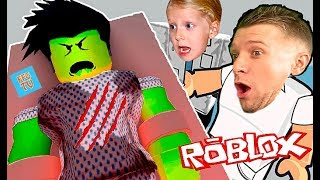 Zombies in ROBLOX, zombie escapes from the HOSPITAL caught us video letsplej from FFGTV