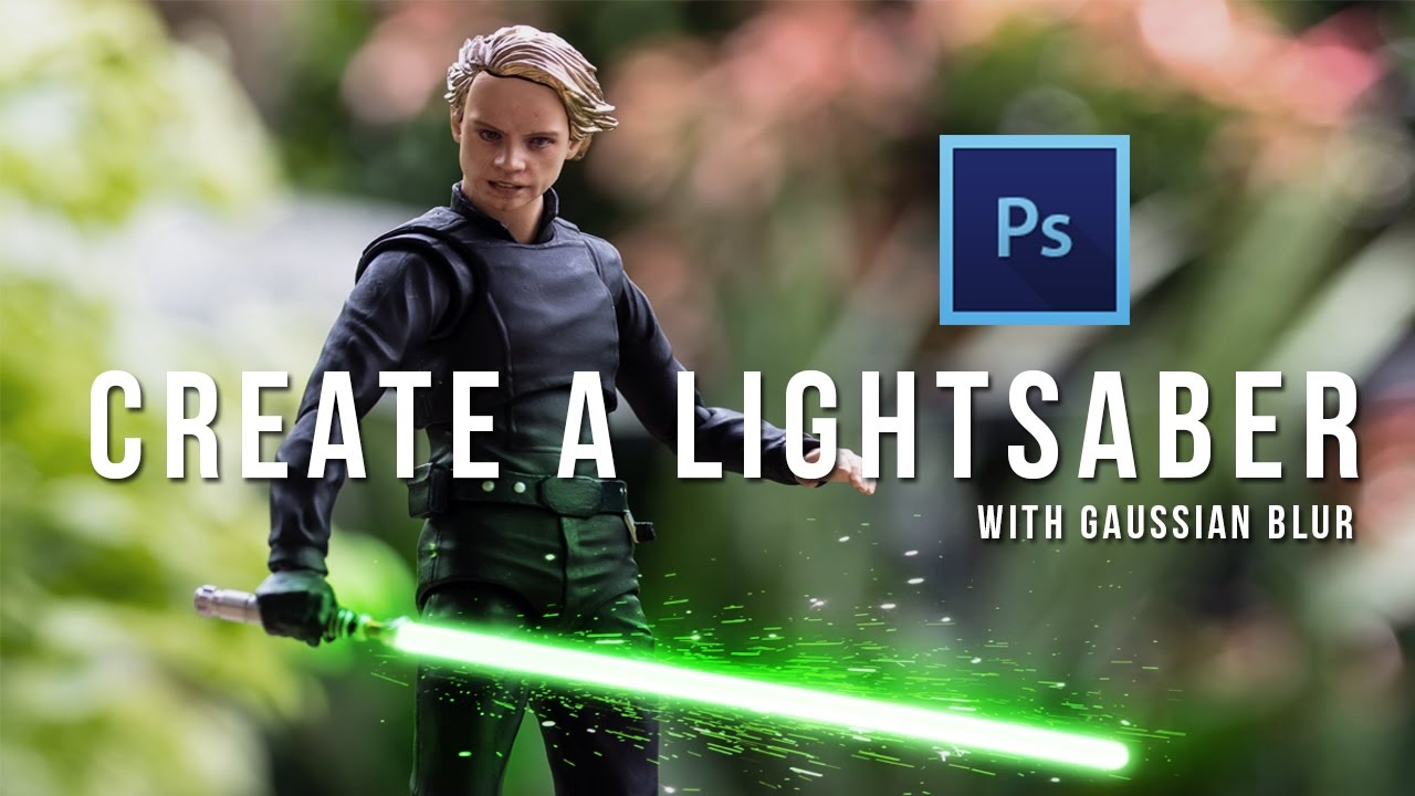 how to create a lightsaber effect in photoshop