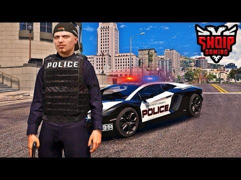 GTA 5 SHQIP - Polici në Qytet !! - SHQIPGaming
