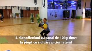 Circuit pe intervale cu 5 exercitii fitness pentru slabit si tonifiere (5 din 10)