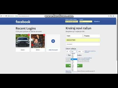 Kako napraviti facebook profil - YouTube
