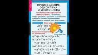 """Таблицы демонстрационные """"Алгебра 7 класс"""" - видео презентация."""