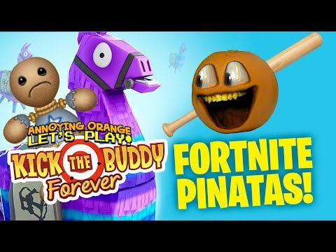 Kick the Buddy Forever #2:  FORTNITE PINATAS!