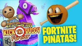 Kick the Buddy Forever #2: FORTNITE PINATAS!