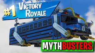 WINNING FORTNITE IN THE STARTING BUS? - FORTNITE MYTHBUSTERS #13