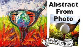 EASY Golf Ball Abstract painting tutorial from Photo LIVE STREAM 🔴⛳️