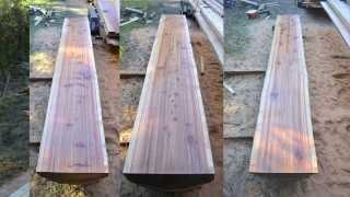 Redwood Slab Cutting, January 2014