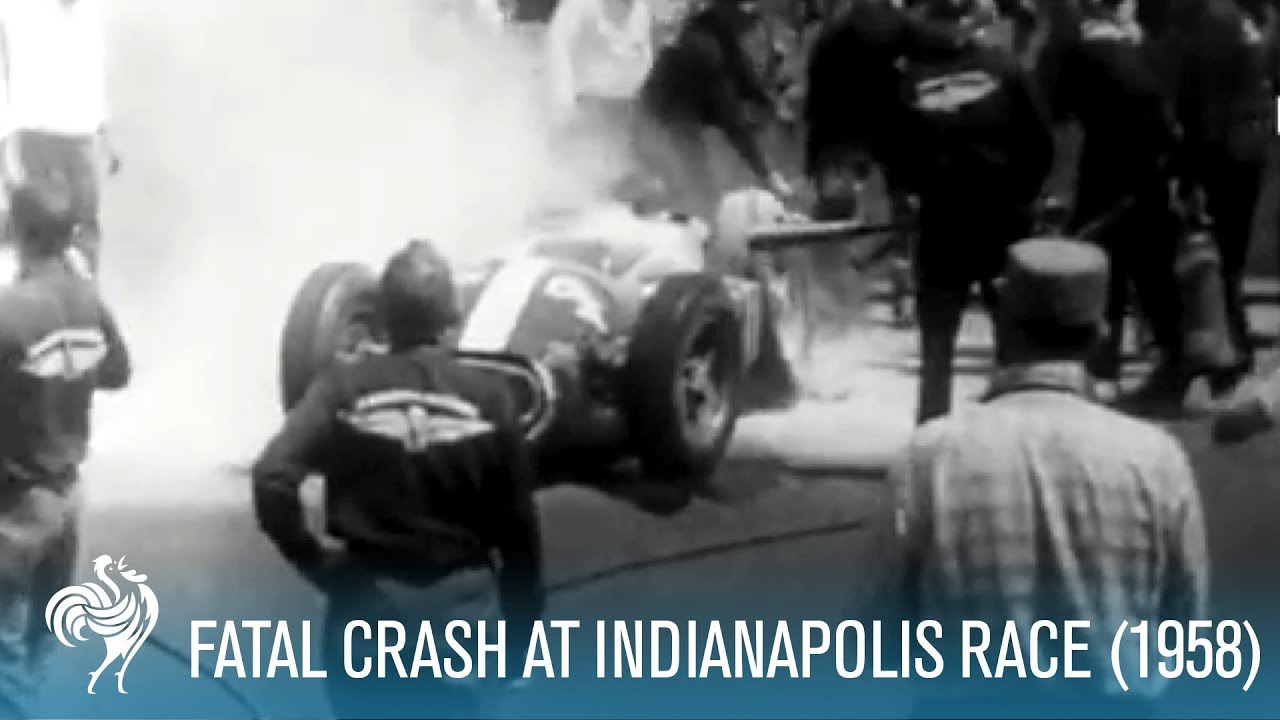 15-Car Fatal Crash at 1958 Indianapolis 500 Race | British Pathé