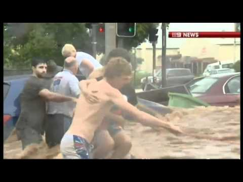 Dramatic footage of Queensland flooding