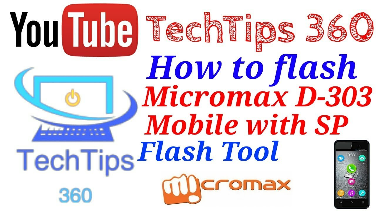 How to flash micromax Bolt D303 using SP Flash Tool  100% working