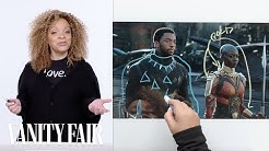 Black Panther's Costume Designer Breaks Down T'Challa's Entrance Scene | Vanity Fair