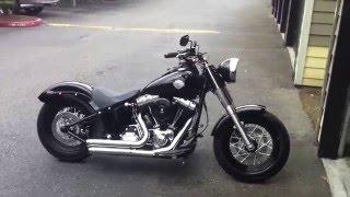 Repeat youtube video Harley Softail Slim Bassani Firesweep Exhaust