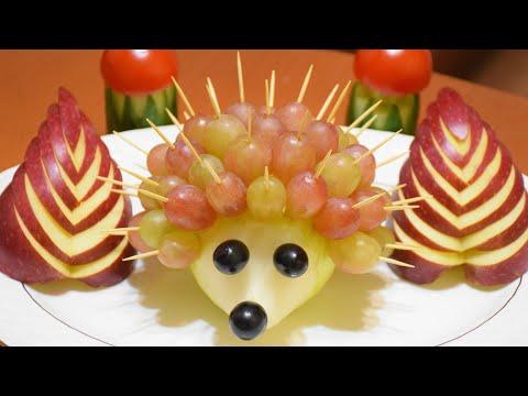 Украшения из фруктов и овощей своими руками видео