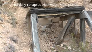 Cabins and Collapses at the Half Moon Mine