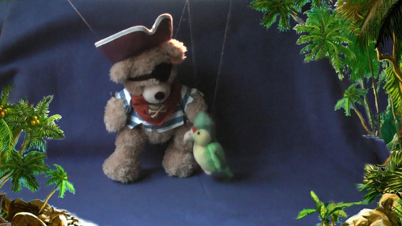 pirate fynn steiff teddy bear u0026 parrot in treasure island youtube