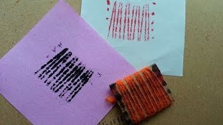 How To Make Cardboard And Yarn Stamp - Diy Crafts Tutorial - Guidecentral