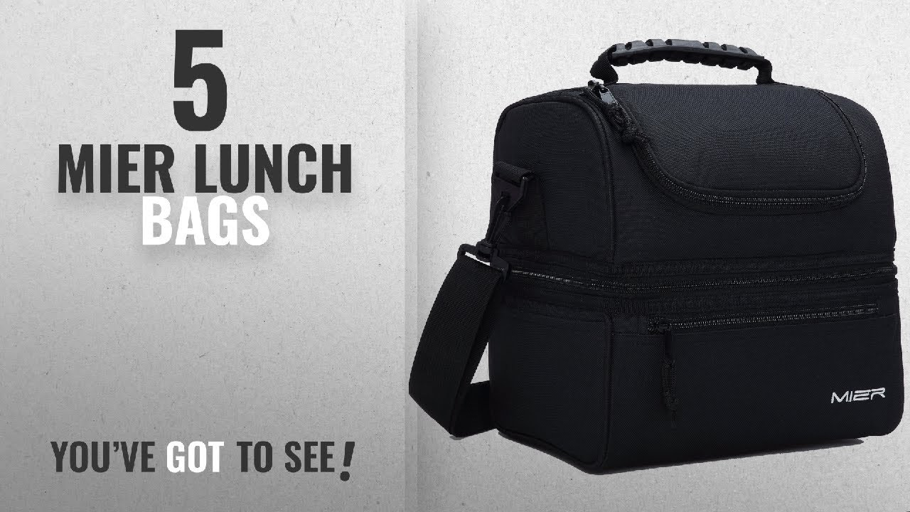 4f3ed0cea6548 Best Mier Lunch Bags [2018]: MIER Adult Lunch Box Insulated Lunch Bag Large  Cooler Tote Bag for Men,