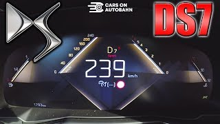 0-240km/h   DS 7 Crossback 225   POV- Acceleration and Top speed TEST ✔