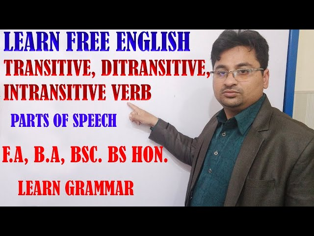 TRANSITIVE INTRANSITIVE AND DITRANSITIVE IN URDU/HINDI