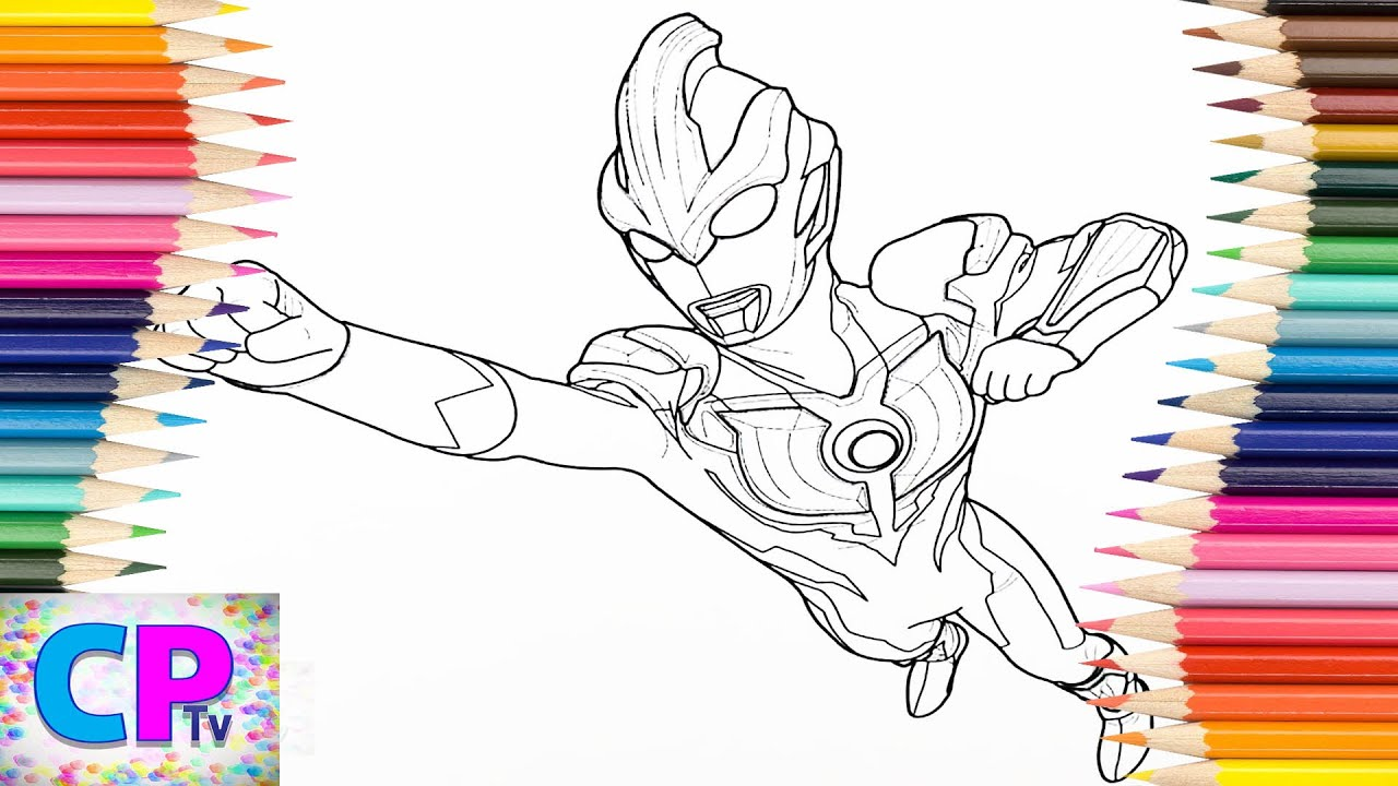 Ultraman Ginga Coloring Pages For Kids 2 How To Color Ultraman