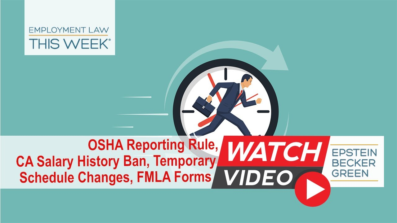 OSHA Law Update | Occupational Safety & Health Lawyers