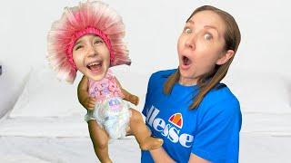 Masha found a boy doll and pretends to be a parent 2 trailer