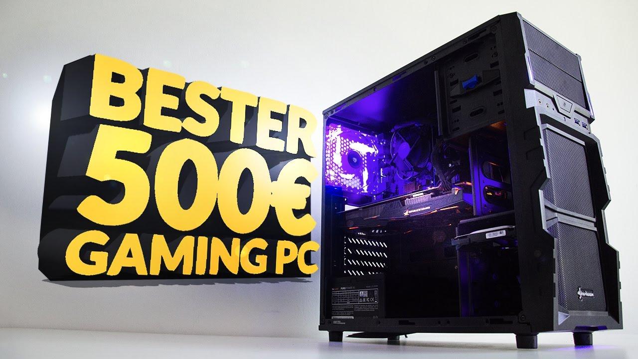 500 gaming pc 2017 test zusammenbauen youtube. Black Bedroom Furniture Sets. Home Design Ideas