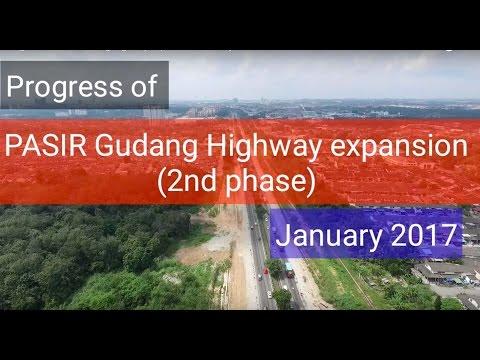 Progress of Pasir Gudang Highway Expansion - January 2017