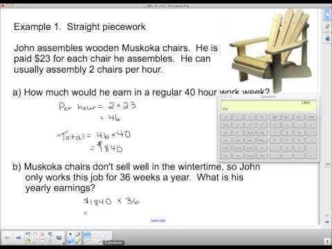 MEL 3E U1L2 Piecework Pay