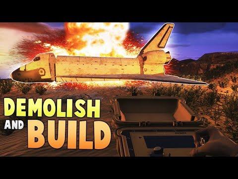 Exploding UFO's & Space Shuttles? - Demolish & Build 2018