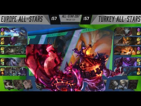 EU (Jankos Khazix) VS Turkey (Zeitnot Jhin) Highlights - 2017 All-Star Day 2