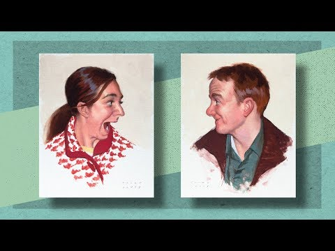 Painted Studies in the style of Norman Rockwell