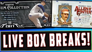 LIVE BOX BREAKS! 2017 Topps Museum Collection Baseball, 2017 Topps Allen & Ginter (1008,1012)