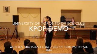 [UTDC] Korean POP Demo with Livia, Michaela and Jen (RPM) / Fall End of Term Party 2014
