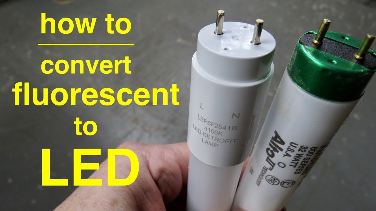 how to convert t8 fluorescent lights to led explained in simple terms [ 1280 x 720 Pixel ]