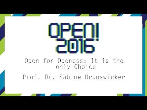OPEN! 2016 Keynote 2 -  Prof. Sabine Brunswicker:
