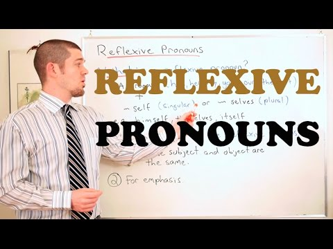 Grammar Series - How to use Reflexive Pronouns