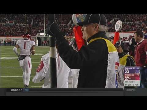 Alex Collins Beast Liberty Bowl TD Run (HD)
