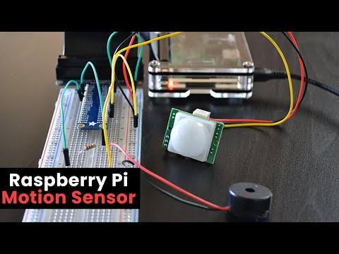 Raspberry Pi Motion Sensor using a PIR Sensor - YouTube on