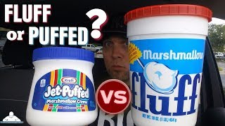 Marshmallow Fluff®  VS Jet-Puffed® Marshmallow Creme!® ☁️🆚✈️☁️