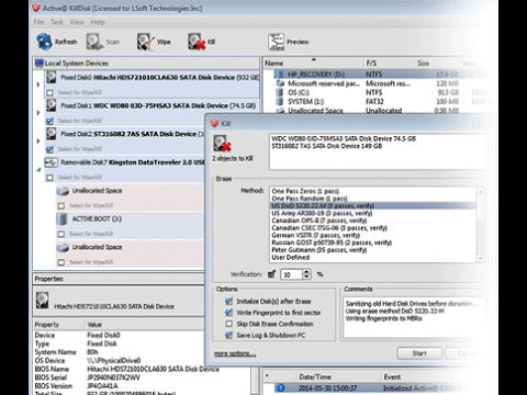 Active@ KillDisk Freeware for Personal Home Use