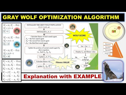 Gray wolf Optimization Algorithm (GWO) Step-By-Step Explanation with Example (PART 1) ~xRay Pixy
