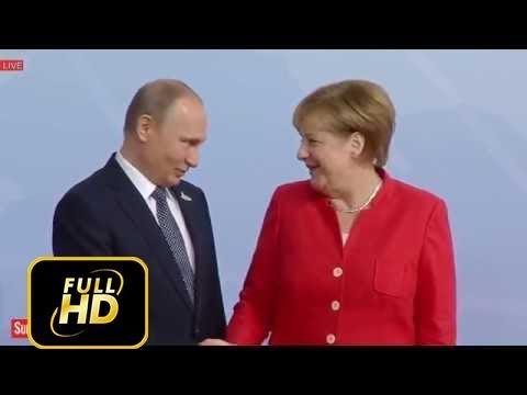 President Vladimir Putin of Russia Arrive at G20 Summit Meeting, in Hamburg, Germany