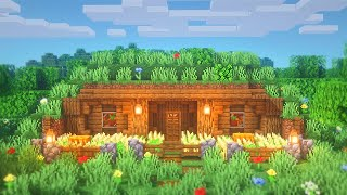 Minecraft: How to Build a Simple Hobbit Hole | Survival House Tutorial