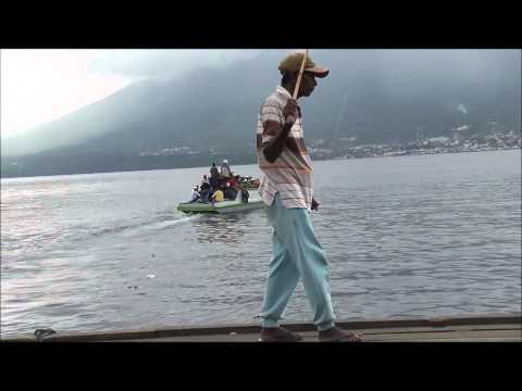 Boats going from Tidore island's pier to Ternate island, North Moluccas , Indonesia