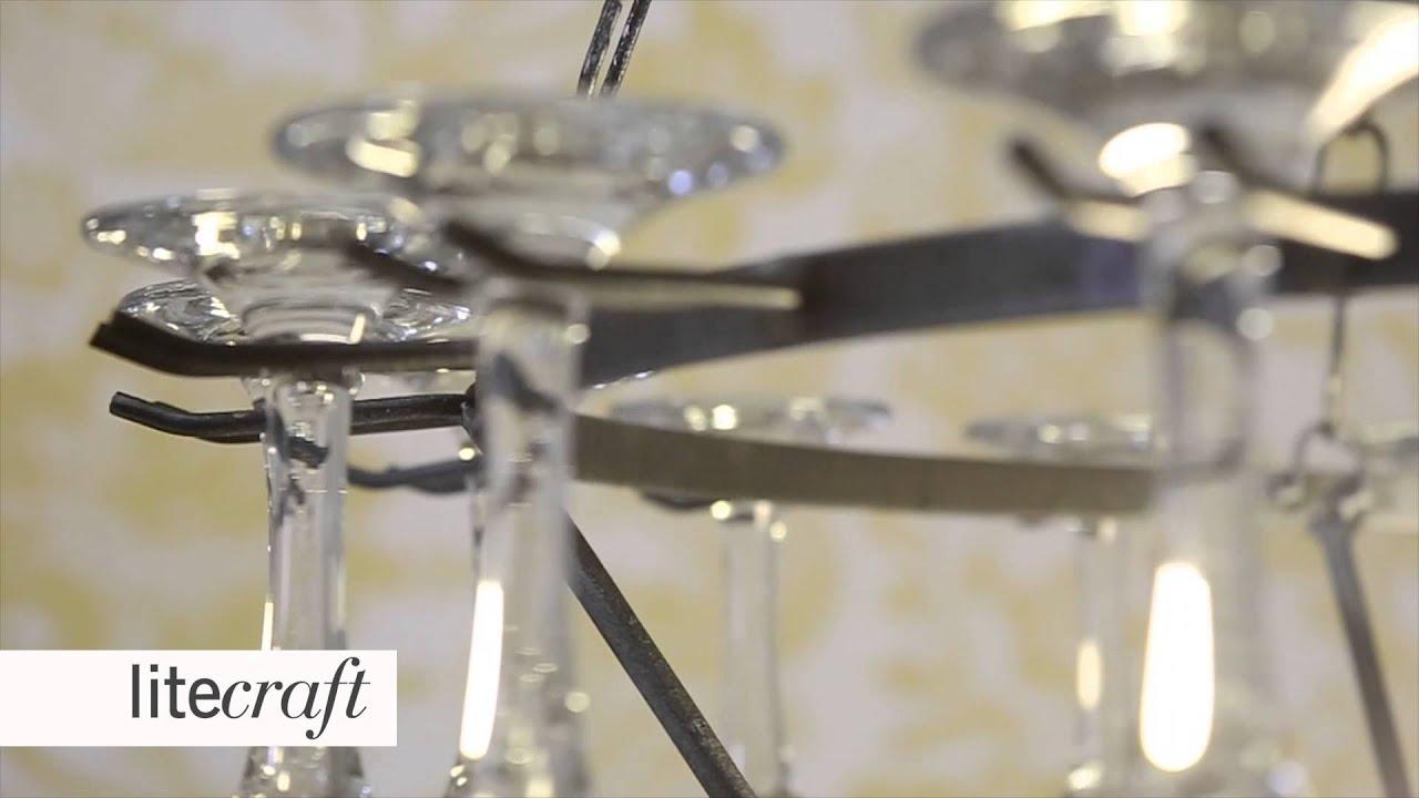 3 Tier Champagne Gl Chandelier Black Litecraft Lighting Your Home You