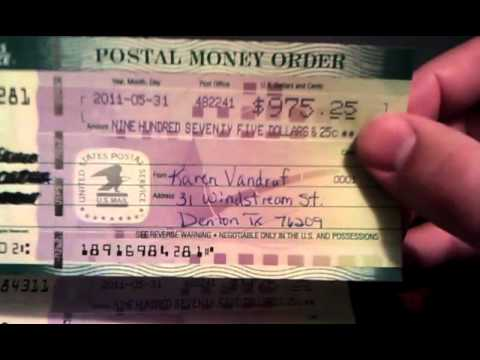 Fake Money Order  YouTube