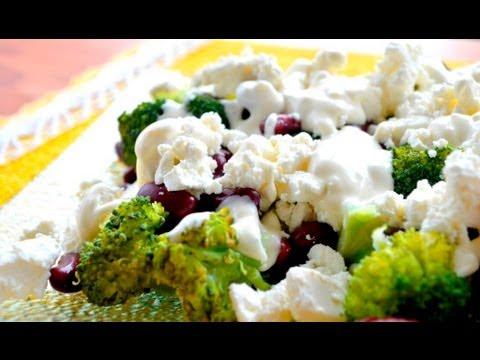 Salatka Z Brokulami I Feta Jak Zrobic Smakowite Dania Youtube