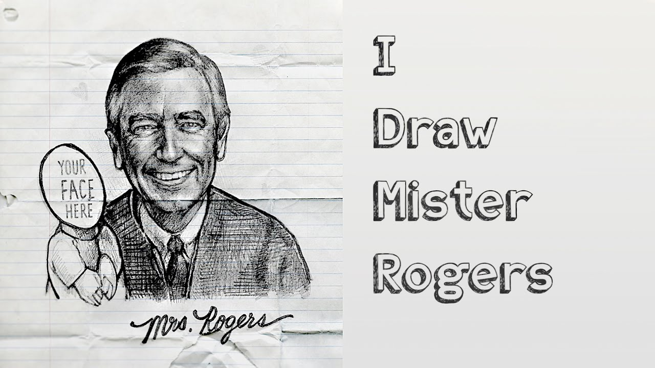I Draw Mister Rogers A Mini Tutorial Speed Painting Youtube